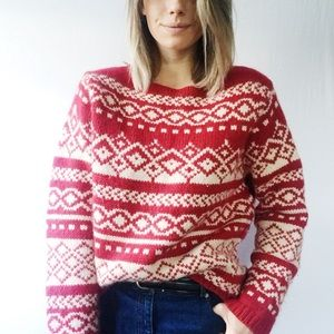 Vintage Eddie Bauer Holiday Lambswool Sweater